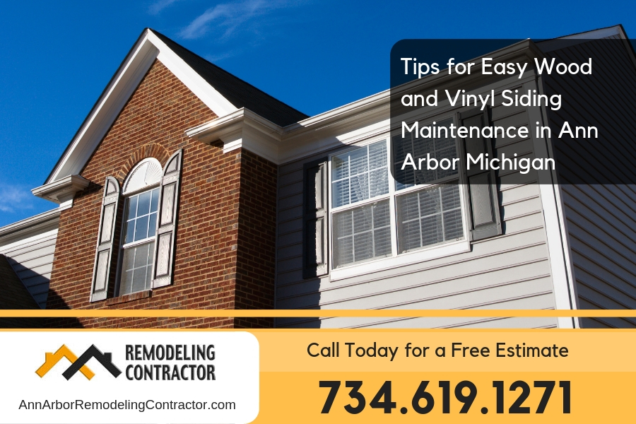 Tips for Easy Wood and Vinyl Siding Maintenance in Ann Arbor Michigan